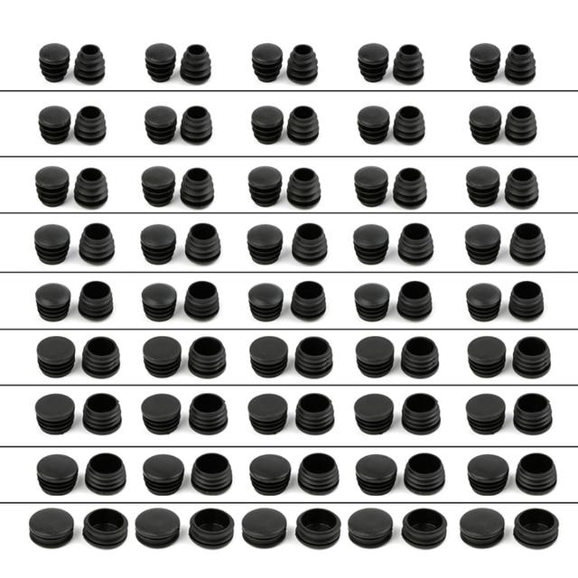 10Pcs Black Plastic Furniture Leg Plug Blanking End Cap Bung For Round Pipe Tube Hot-selling 2