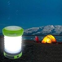 USB Recarregável Mini Lanterna Lâmpada de energia solar LEVOU Luz de Acampamento Ao Ar Livre com Alça Turnê Tenda Luz Luz de Emergência Carregador de Telefone Celular