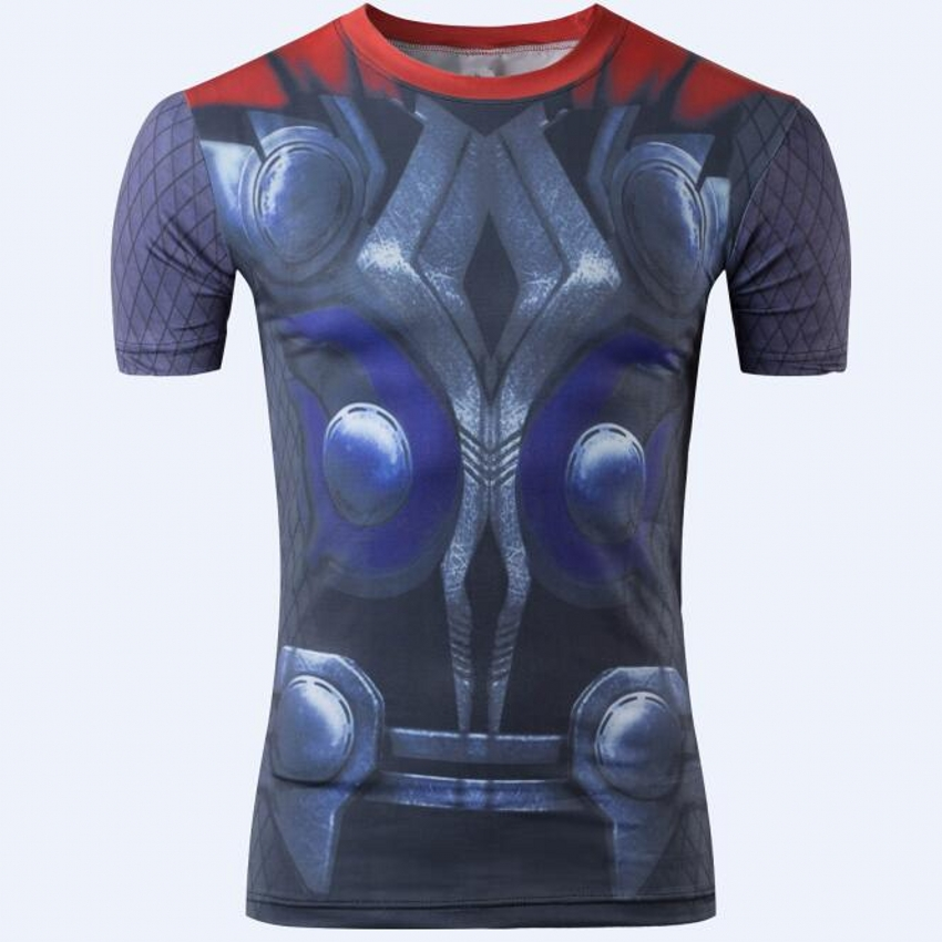 2016 Compression men t shirts batman superman spiderman captain american punisher hulk fitness  shirts men t-shirt