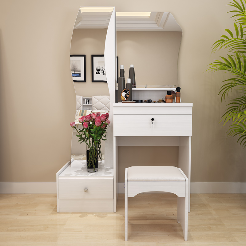 dressing table white modern simple fashion multifunctional small size. Black Bedroom Furniture Sets. Home Design Ideas