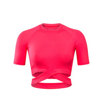 Women Yoga Shirts Sexy Sports Top Style Fitness Crop Top Solid Running Shirt Sport Gym Clothes