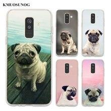 Transparent Soft Silicone Phone Case pug dpt For Samsung Galaxy A6 A6+ A9 A8 Star A8+ A7 A5 A3 Plus 2018 2016