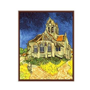 Sans cadre photos numérique peinture à l'huile images décoratives couleur dessin peinture par numéros 40*50 cm Van gogh-église rouge
