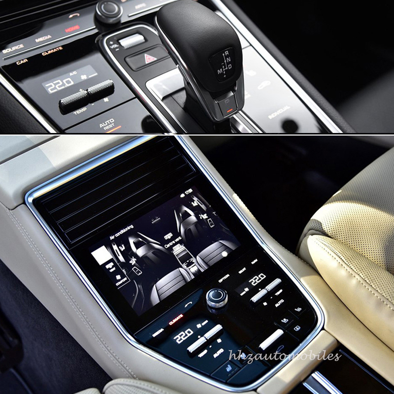 For porsche panamera Interior Invisible Protective Film Transparent Center Console Control Door Gear TPU Stickers Car styling