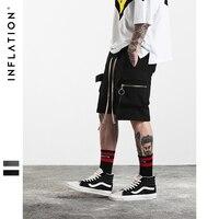 INFLATION 2017 New Arrivals Streetwear Shorts Zipper Pocket Shorts Hip Hop Shorts