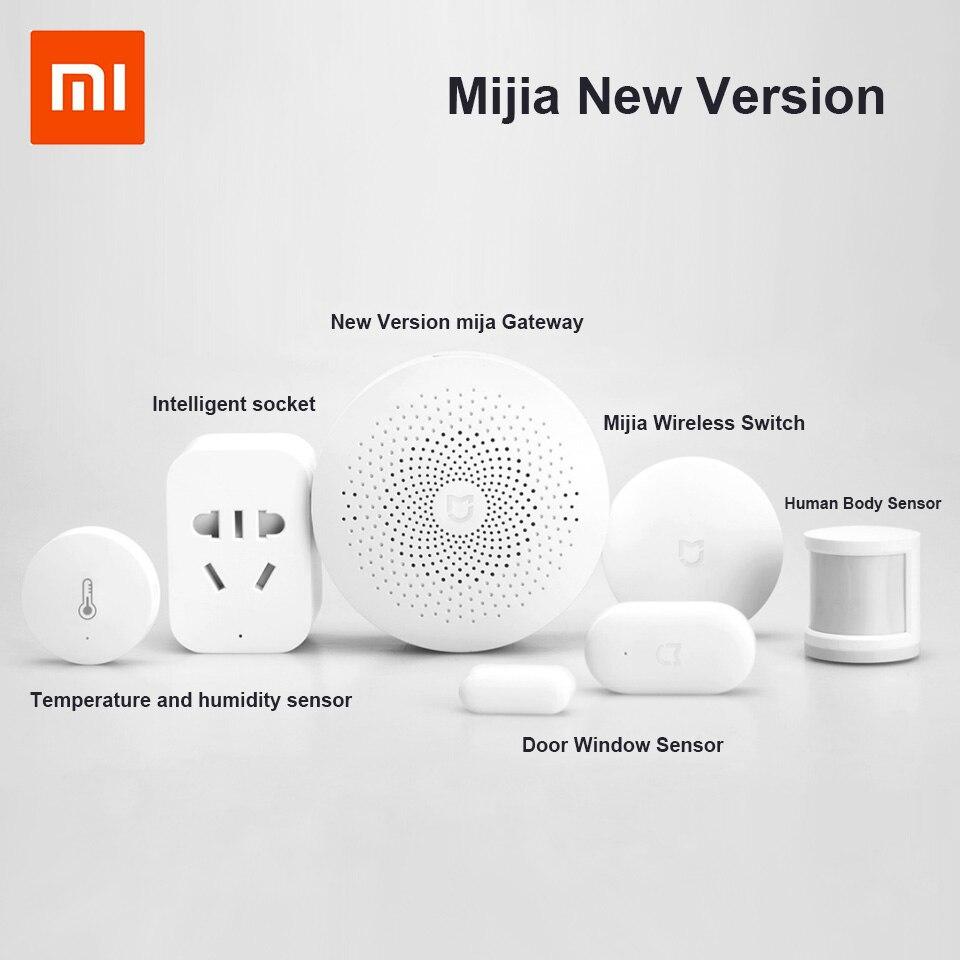 Aktualisiert Xiaomi mijia Aqara Smart-Home-Kits Gateway Tür Fenster Sensor Menschlichen Sensor Cube Drahtlose Schalter Feuchtigkeit Zigbee Buchse