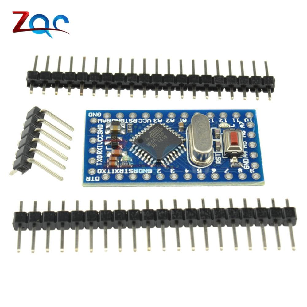 Pro Mini Atmega328 Mini ATMEGA328P 5V 16MHz Module With Crystal Oscillator Pins Replace ATMEGA128 For Arduino Nano