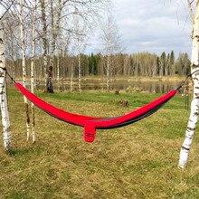 купить Double 2 Person camouflage Ultralight Travel Parachute Home Hammocks Outdoor Camping Hammock Sports Leisure Travel Hang Bed дешево