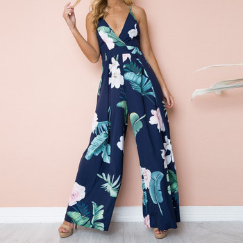 Womail bodysuit Women Summer Sleeveless Strip Jumpsuit Print Strappy Holiday Long Playsuits Trouser Fashion 2019 dropship f28 2