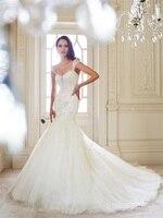 Latest Design Vintage Cap Sleeve Wedding Dresses 2015 Sweetheart Lace Appliques Bridal Gown Organza Vestido De Noiva MW3245