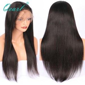 """Image 4 - Супер длинные 24 """"26"""" 28 """"полностью кружевные человеческие волосы, искусственные волосы, шелковистые, прямые, бразильские волосы Remy, предварительно выщипанные, средней части, с волосами ребенка Qearl"""