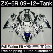 Майка для KAWASAKI NINJA ZX636 ZX-6R 2009 2010 2011 2012 53HC. 20 ZX 636 600CC ZX 6R ZX-636 Синий Пламя ZX6R 09, 10, 11, 12, обтекатель
