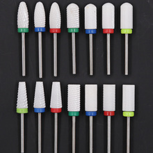 Ceramic Milling Cutter for Manicure Ceramic Diamond Nail Drill Bit for Manicure Machine Nozzle for Manicure Cutters for Nail Art