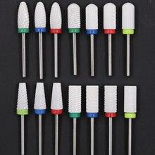 Seramik freze kesicisi için Manikür Seramik elmas tırnak süsü Matkap Ucu Manikür Makinesi Memesi Manikür Kesiciler Tırnak Sanat için
