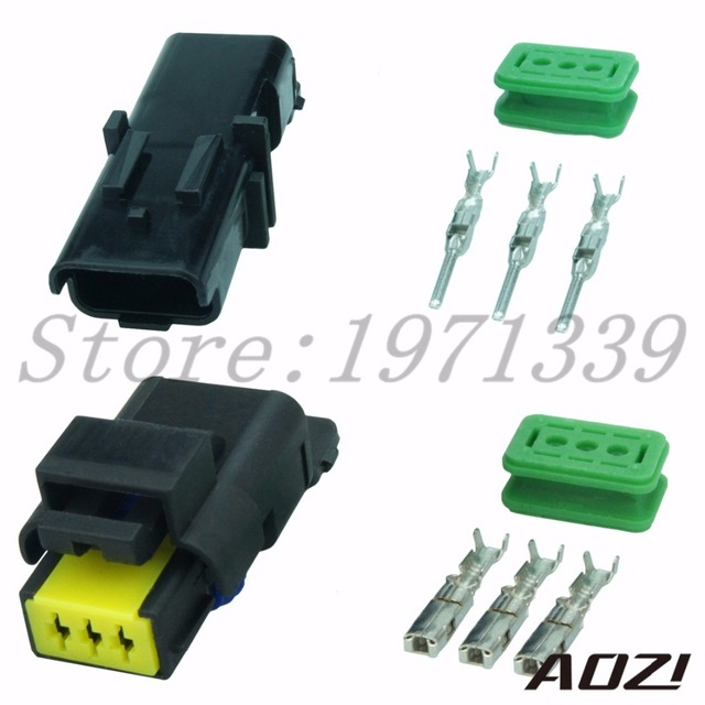 10 sets number 211pc032s0049 211pl032s0049 auto wire harness connectors  3pins female adapter male plastic connector and terminal