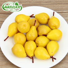 High artificial small pears model pvc false fruit props toy kitchen cabinet furniture decoration