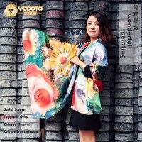 Yopota high end шелковый шарф длинный платок 2018 новый бренд переменчивый двойной prepose topgrade подарок бесплатная доставка
