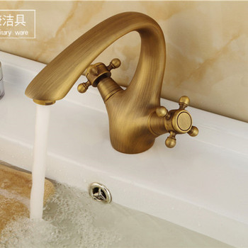 Free shipping bathroom antique basin faucet with single lever single hole basin mixer of hot cold bathroom mixer tap