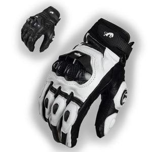 Image 2 - Real Genuine Leather Motorcycle Gloves GP PRO Riding Motobike Racing Cycling Luvas Moto Guantes Carbon Fiber Racing Cross bike