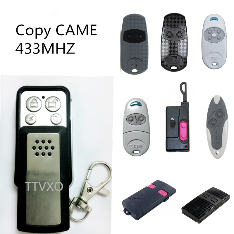 Universal Remote Control CAME 4 Channel 12V Car Keyless Entry Clone Copy Code RF Duplicator key Fob 433Mhz