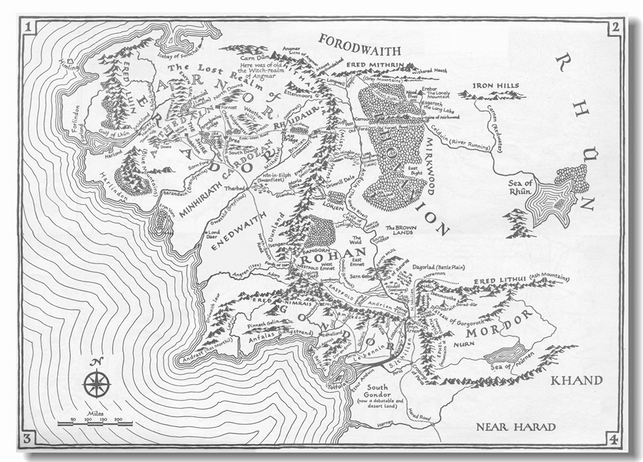 custom canvas wall decoration world map of middle earth poster ring lord wall sticker wallpaper bedroom mural 2873