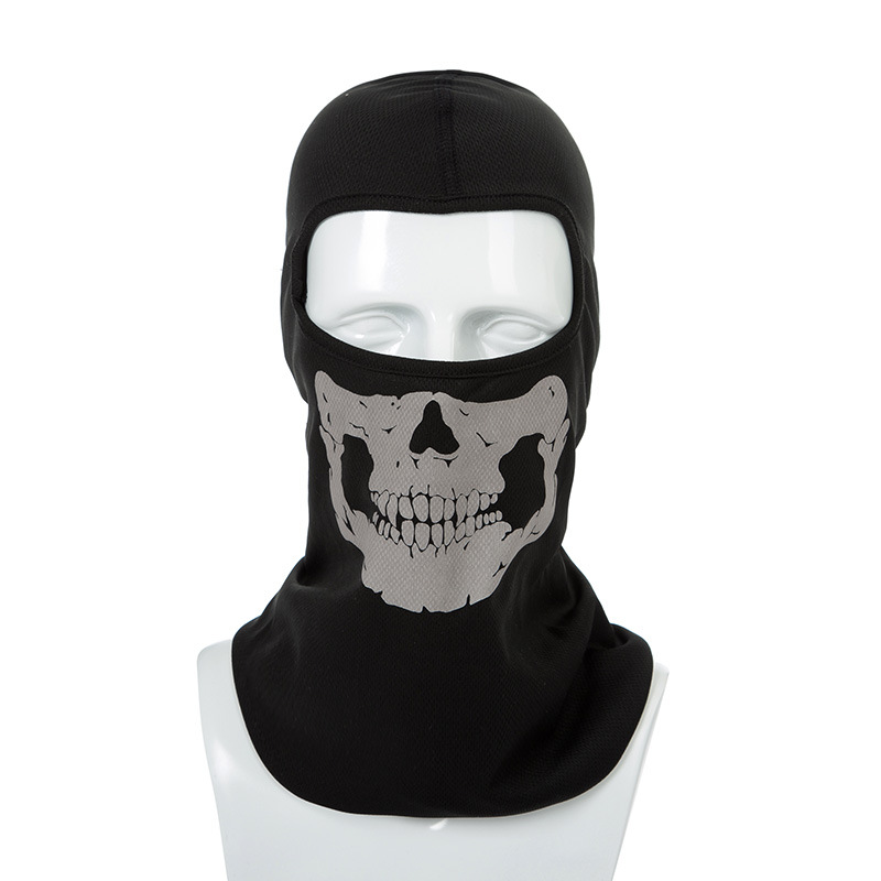 Head Cover Outdoor Mask With Skull Head Motorcycle Bicycle Riding Climbing UV Protect Full Face Ghost Skull Mask Skeleton Hats купить