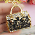 2017 New Fashion HandBag Crystal Bag Pendant Key Holder Keyring Keychain For Car Jewelry K187