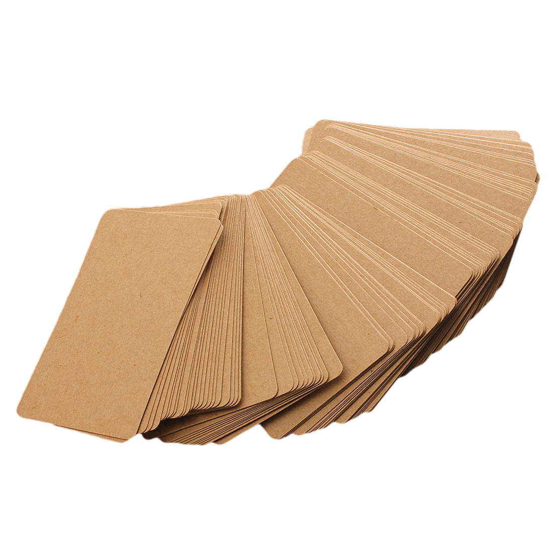 Practical 100 Brown Kraft Label Paper Tag Blank Luggage Card Party Wedding Hang Gift Favor