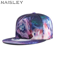 NAISLEY 2018 Summer Hat Space 3D Wolf Head Baseball Cap Snapback Hat Wash Cap For Men