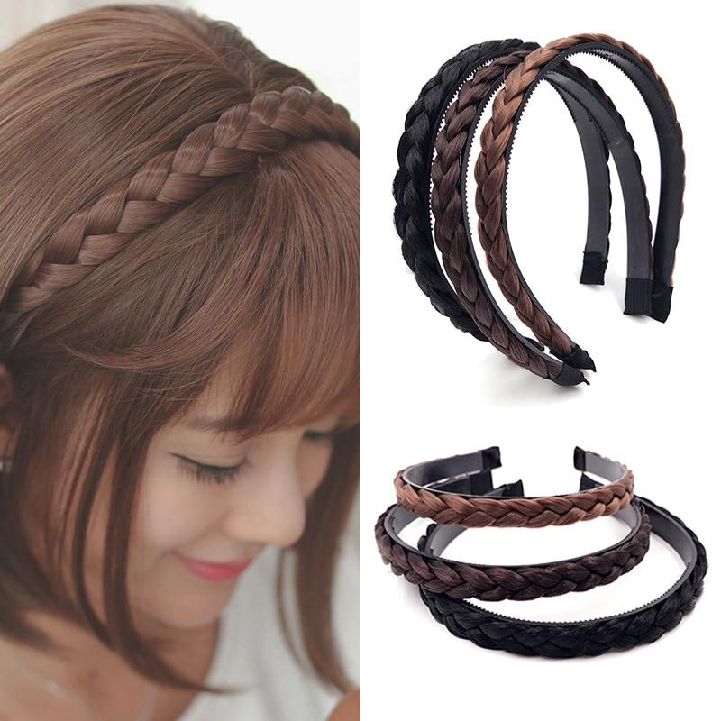 Sale Korean Headband Creative Fashion Hairpiece 1PC New Women Girls Braids Headwear Hair Wig Accessories Hot  Hair Accessories fishtail braid with hair accessory