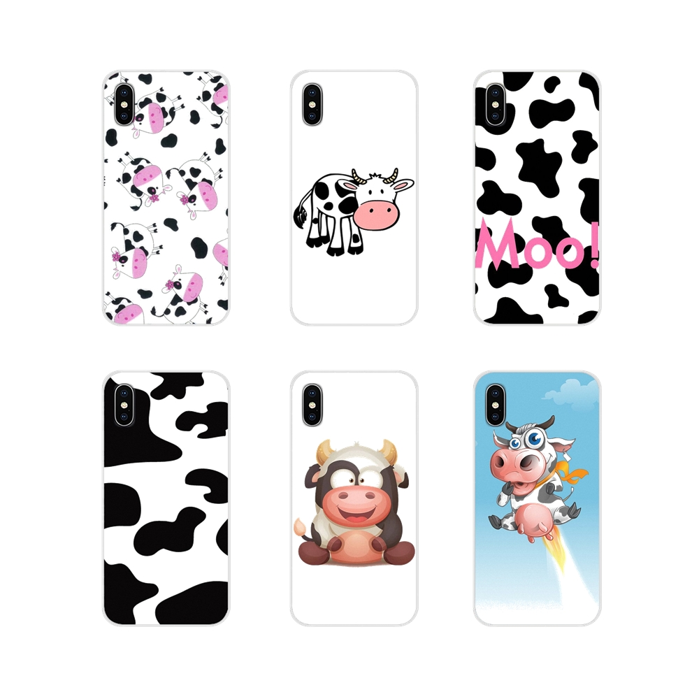 Cute cartoon black and white cow Smart Accessories Cases For Samsung A10 A30 A40 A50 A60 A70 Galaxy S2 Note 2 3 Grand Core Prime image