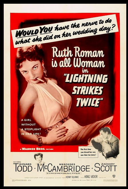 Lightning Strikes Twice Classic Movie Film Noir Retro Vintage Poster Canvas Painting DIY Wall Paper Home Decor Gift image