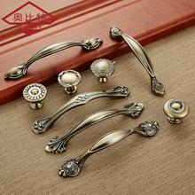 AOBITE, Европейский цинк, Aolly, антикварные ручки для роскошного шкафа, 128 мм, кухонный шкаф, вытягивает ящик, палочка, отверстие, ручка для мебели
