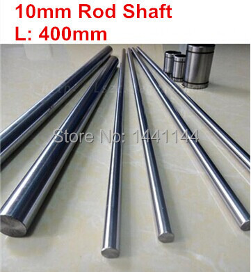 Cylindre plaqué chrome Rail linéaire | 4 pièces dia 10mm - 400mm Rail rond, axe de mouvement linéaire