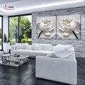 2 Panel Carteles 3d Lotus Pintura del Cuadro En La Pared Modular Imágenes HD Impresión de la Lona Pinturas Al Óleo Quadro Mural Cuadro K201X
