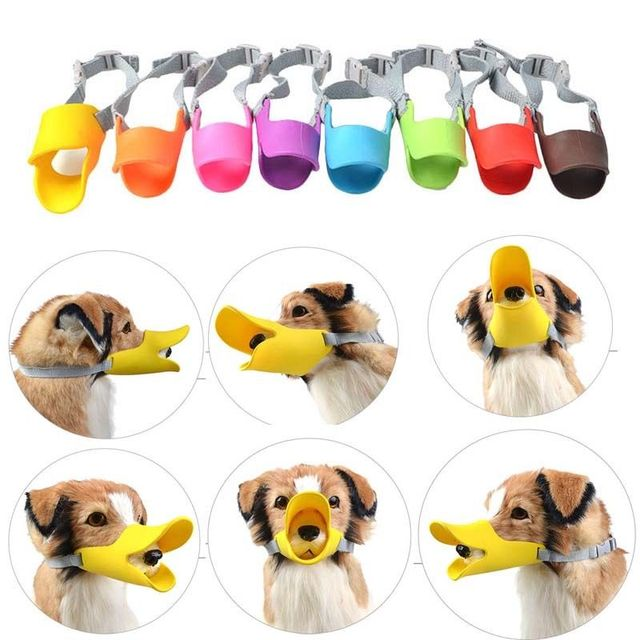Dog Muzzle Pet Protection Dog Mouth Sleeve Duckbill Mask Design Soft Silicone Anti Bite Bark 1Pcs Dog Accessories 5