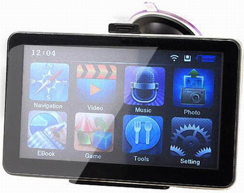 7 inch LCD Screen Windows CE 6.0 Core AV Bluetooth GPS Navigator with FM Transmitter 800f 7 resistive screen win ce 6 0 car gps navigator black