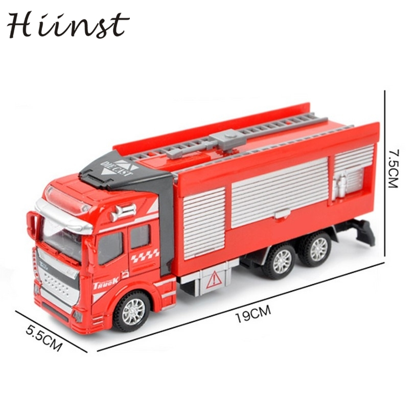 HIINST inductive truck 2017 red giocattolo Childrens educational Fire Water Sports magic track toys a Birthday gift*R Drop