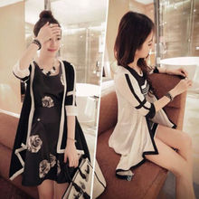 Fashion Women Asymmetric Cardigan Patchwork Knitting Long Top Coat Cardigan Sweater Outwear Coat Jacket 2015 Autumn New