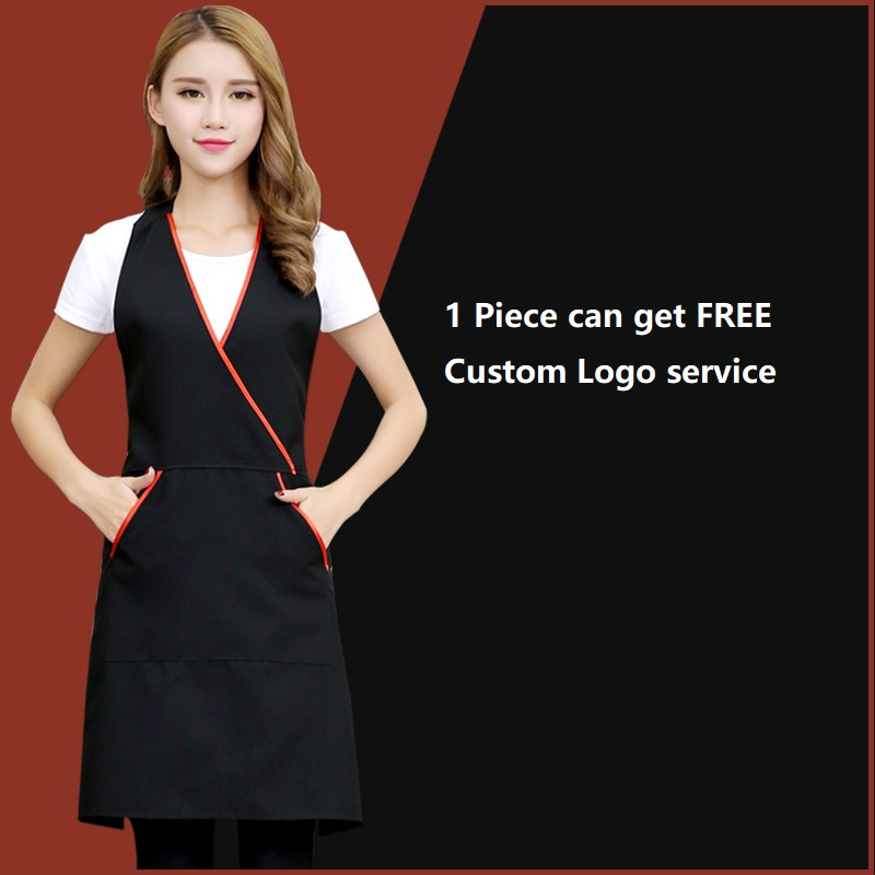 Beauty Salon Black Beautician Apron Workwear Hair Salon Barber Apron Static Free Woman Apron Nail Salon