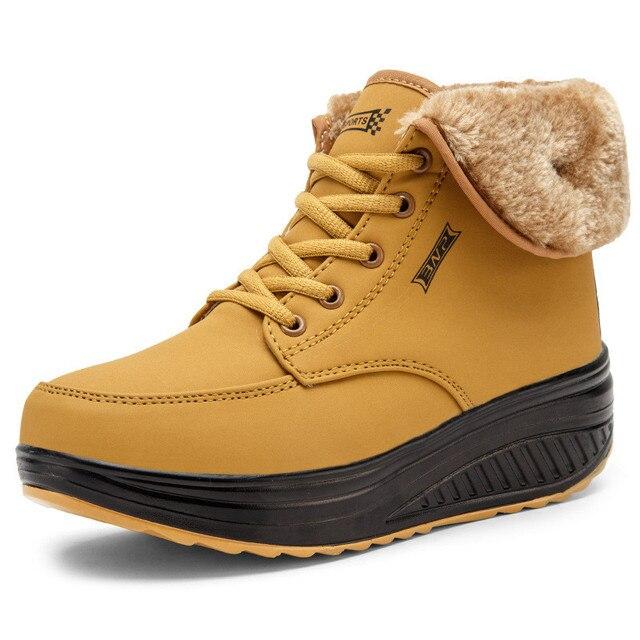 חג המולד חורף נעלי אישה חם קטיפה פרוותי מגפי שלג מגפיים חיצוני קרסול טריזי פרווה מגפי נעליים יומיומיות Zapatos De Mujer