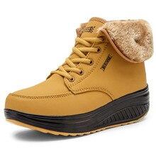 คริสต์มาสฤดูหนาวรองเท้าผู้หญิงอบอุ่น Plush Furry รองเท้าบู๊ทข้อเท้ากลางแจ้ง Wedges รองเท้าบูทรองเท้าสบายๆ Zapatos De Mujer
