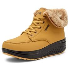 Zapatos De invierno De Navidad para Mujer botas peludas De felpa botas De nieve al aire libre cuñas De tobillo botas De piel Zapatos casuales Zapatos De Mujer
