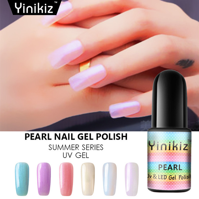 Yinikiz sirena esmaltes perla UV LED gel polaco color del verano ...