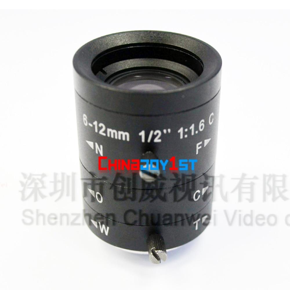New 3.0Mega Pixel Varifocal Lens 6-12mm lens with 1/2