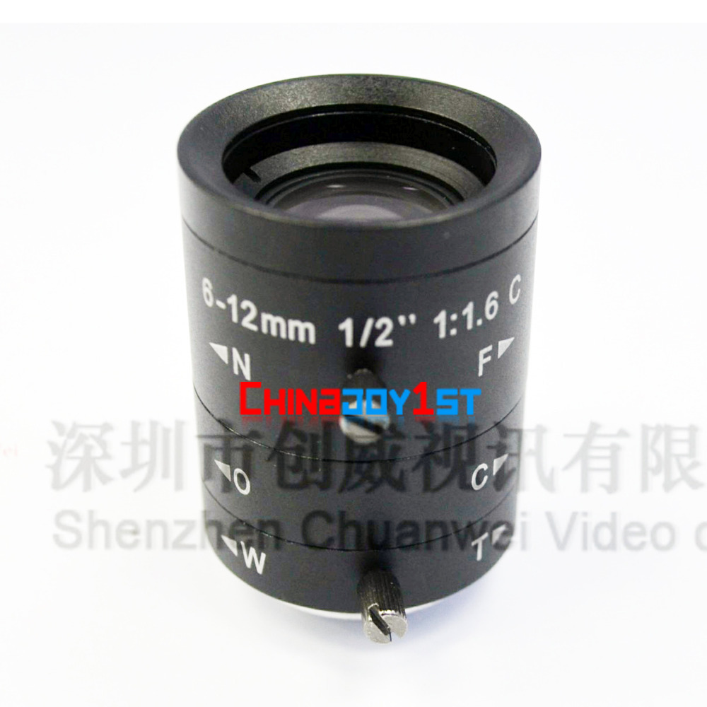 New 3 Mega Pixel Varifocal Lens 6-12mm with 1/2 CS Mount Lens for IP Camera Free Shipping как бесконечные патроны в cs 1 6 зомби