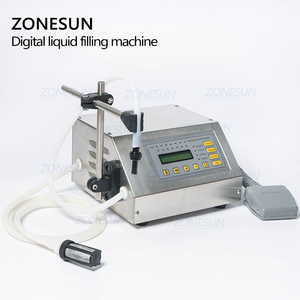 ZONESUN 5-3500 مللي المياه سوفتدرينك السائل ماكينة حشو التحكم الرقمية GFK160 المياه النفط العطور الحليب صغيرة حشوة الزجاجة