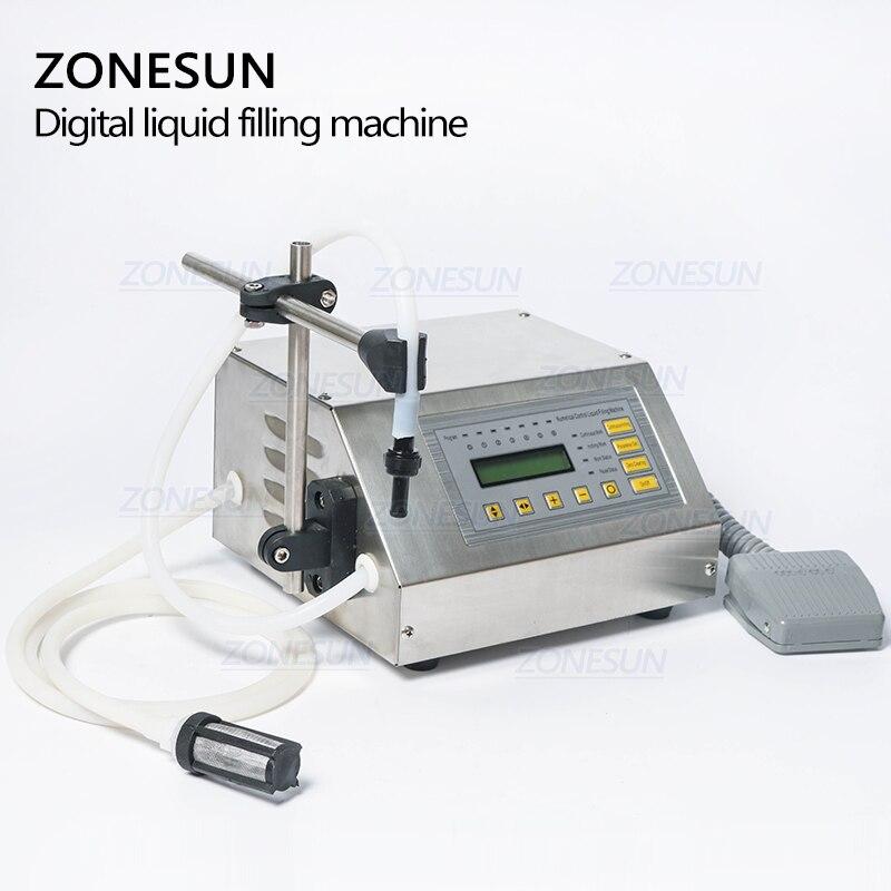 ZONESUN 5-3500ml Machine de remplissage liquide de boisson molle d'eau contrôle numérique GFK160 eau huile parfum lait petite bouteille de remplissage - 2