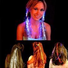 Светло-до шпилька вспышкой танца косы светодиодной декор партии девушка клип волосы