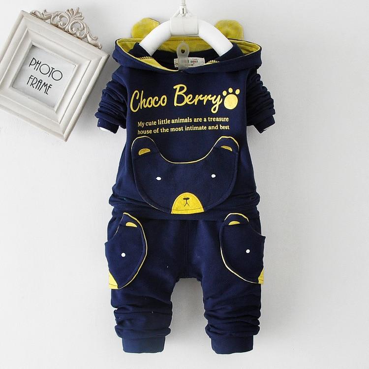 Anlencool 0-1-2-3 éves fiú tavaszi 2019 új tavaszi ujjú pulóver öltöny gyermek baba ruhák Hot Sales baba ruházat beállítása